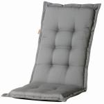 MADISON Dessin Panama Sitzpolster, Sitzauflage für Stapelsessel niedrig, Niedriglehner 75% Baumwolle, 25% Polyester, 100 x 50 x 4 cm, in grau