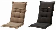 MADISON Dessin Rib Sitzpolster, Sitzauflage für Stapelstuhl, Stapelsessel niedrig, Niedriglehner 100% Polyester, 100 x 50 x 4 cm