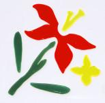 MagicGel Fensterbilder - 2 Lilien, Fensterdeko, Spiegeldeko