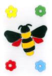 MagicGel Fensterbilder - Biene, Fensterdeko, Spiegeldeko