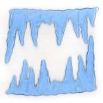 MagicGel Fensterbilder - Eiszapfen, Fensterdeko, Spiegeldeko