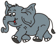 MagicGel Fensterbilder - Elefant (22 x 17 cm), Fensterdeko für das Basteln mit Kindern