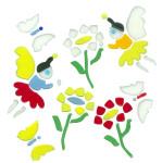 MagicGel Fensterbilder - Elfen mit Blumen, Fensterdeko, Spiegeldeko