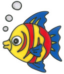 MagicGel Fensterbilder - Fisch (17 x 18 cm), Fensterdeko für das Basteln mit Kindern