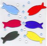 MagicGel Fensterbilder - Fische, Fensterdeko, Spiegeldeko