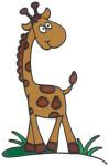 MagicGel Fensterbilder - Giraffe (17 x 25 cm), Fensterdeko für das Basteln mit Kindern