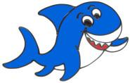 MagicGel Fensterbilder - Haifisch (22 x 13 cm), Fensterdeko für das Basteln mit Kindern