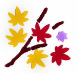 MagicGel Fensterbilder - Herbstblätter, Fensterdeko, Spiegeldeko