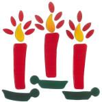 MagicGel Fensterbilder - Kerzen, Fensterdeko, Spiegeldeko