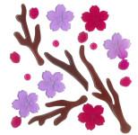 MagicGel Fensterbilder - Kirschblüten, Fensterdeko, Spiegeldeko