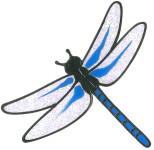 MagicGel Fensterbilder - Libelle (16 x 16 cm), Fensterdeko für das Basteln mit Kindern