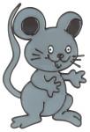 MagicGel Fensterbilder - Maus (11 x 16 cm), Fensterdeko für das Basteln mit Kindern