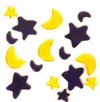 MagicGel Fensterbilder - Mond und Sterne, Fensterdeko, Spiegeldeko