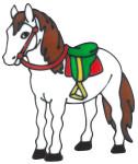 MagicGel Fensterbilder - Pferd (19 x 24 cm), Fensterdeko für das Basteln mit Kindern