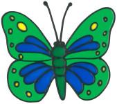 MagicGel Fensterbilder - Schmetterling (16 x 14 cm), Fensterdeko für das Basteln mit Kindern