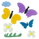 MagicGel Fensterbilder - Schmetterlinge, Fensterdeko, Spiegeldeko