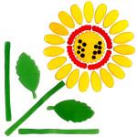 MagicGel Fensterbilder - Sonnenblume, Fensterdeko, Spiegeldeko
