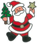 MagicGel Fensterbilder Weihnachten - Nikolaus (15 x 18 cm), Fensterdeko für das Basteln mit Kindern