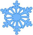 MagicGel Fensterbilder Weihnachten - Schneekristall blau (15 x 17 cm), Fensterdeko für das Basteln mit Kindern