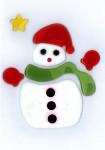 MagicGel Fensterbilder Weihnachten - Schneemann mit Schal (12 x 18 cm), Fensterdeko, Spiegeldeko