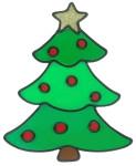 MagicGel Fensterbilder Weihnachten - Tannenbaum (15 x 19 cm), Fensterdeko für das Basteln mit Kindern