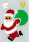 MagicGel Fensterbilder - Weihnachtsmann, Fensterdeko, Spiegeldeko