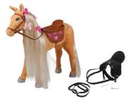 """Happy People Spielzeug Pferd - Mattel Barbie-Pferd """"Tawny"""", mit Sound + 2. Sattel in schwarz mit Steigbügel und Zaumzeug"""