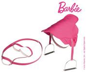 Mattel Barbie-Sattel in pinkfarbenem Steppdesign, mit Steigbügeln und gesticktem Barbie-Emblem