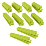 Metaltex Beutelclips 10er Set, aus Kunststoff, farbig sortiert