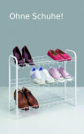 Metaltex Shoe Schuhregal 3-Etagen 64 x 23 x 59 cm, plastifiziert, weiß