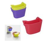 Metaltex Silikon Teebeutelablage aus Kunststoff, 3er Set, farbig sortiert