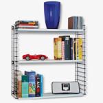 Metaltex Tomado Bücherregal mit 3 Metall-Böden, 70 x 21 x 68 cm