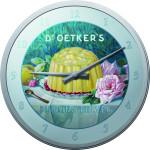 Nostalgic-Art Wanduhr, poliertes Blechgehäuse Motiv Dr. Oetker's Puddingpulver
