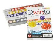 NSV Qwinto Ersatzblöcke, insgesamt 160 Blatt, für Qwinto Würfelspiel, Made in Germany