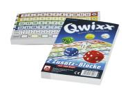 NSV QWIXX Zusatzblöcke, 2 x 80 Blatt, für Qwixx Würfelspiel, Made in Germany
