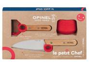 Opinel Le petit Chef, Kinder Kochmesser-Set, 3-teilig, Kochmesser, Fingerschutz, Sparschäler, rostfrei