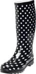 Playshoes Damen-Gummistiefel Punkte schwarz, Größe: 38