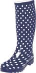 Playshoes Damen-Gummistiefel Punkte, Größe: 42, in marine