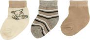 Playshoes Erstlingssocke in Erdfarben, 3er Pack original