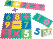 Playshoes EVA-Puzzlematten, Puzzleteppich 16-teilig, Mattendicke 1 cm, ca. 1,44 m² Gesamtfläche