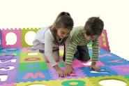 Playshoes EVA-Puzzlematten, Spielteppich, Puzzleteppich, 36 Teile, Fläche: ca. 3,25 m², Dicke: ca. 1 cm