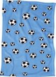 Playshoes Fleece-Decke Fußball, Größe: 75 x 100 cm