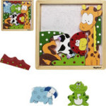 Playshoes Holz Puzzle Tiere