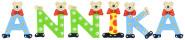 Playshoes Kinder Holz-Buchstaben Namen-Set ANNIKA - sortiert