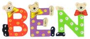 Playshoes Kinder Holz-Buchstaben Namen-Set BEN - sortiert