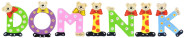 Playshoes Kinder Holz-Buchstaben Namen-Set DOMINIK - sortiert