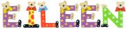 Playshoes Kinder Holz-Buchstaben Namen-Set EILEEN - sortiert