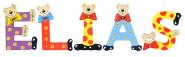 Playshoes Kinder Holz-Buchstaben Namen-Set ELIAS - sortiert