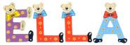 Playshoes Kinder Holz-Buchstaben Namen-Set ELLA - sortiert