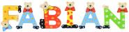Playshoes Kinder Holz-Buchstaben Namen-Set FABIAN - sortiert